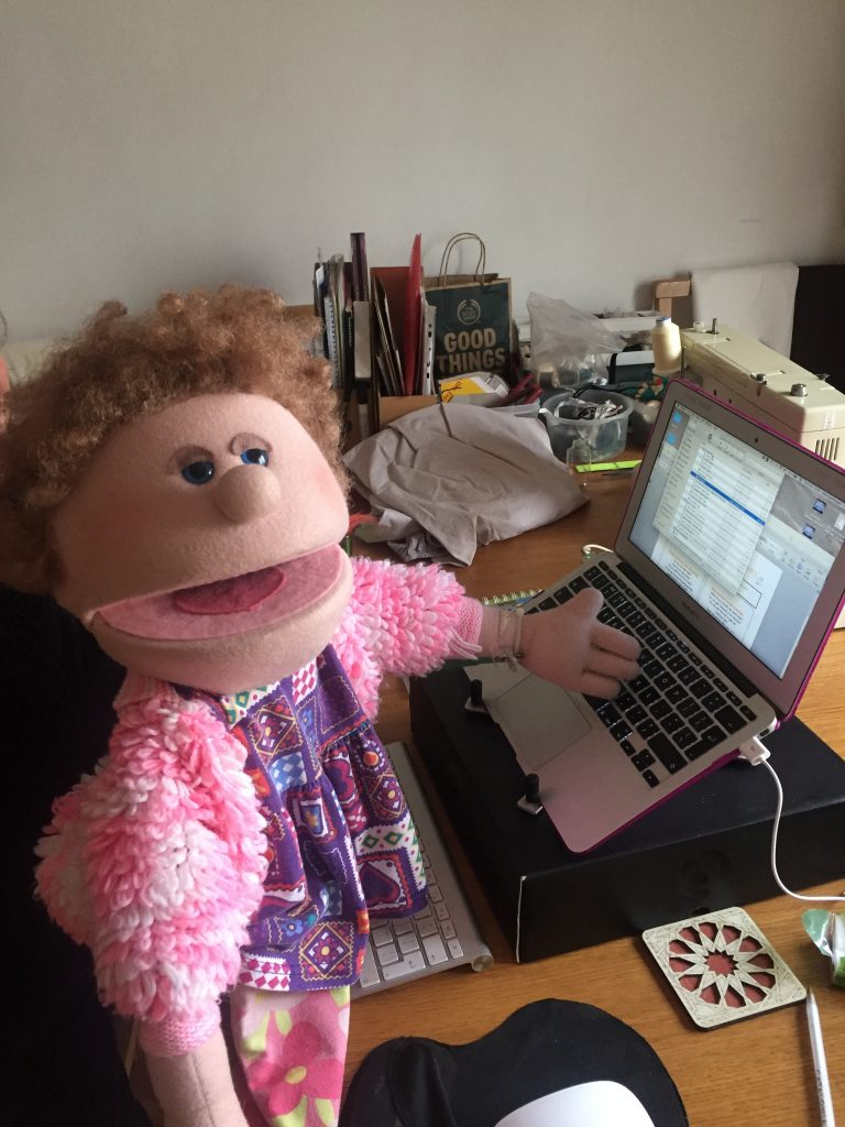 Marge, our Public Relations puppet!