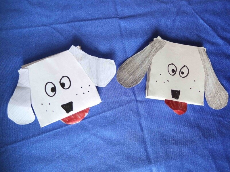 puppet+origami+dogs